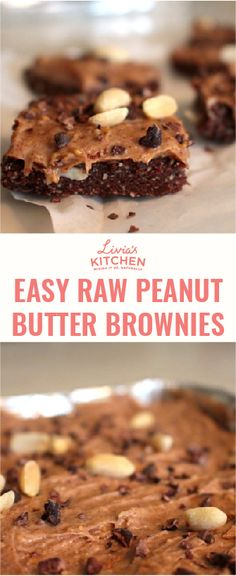 20 minute easy raw peanut butter brownie recipe Raw Peanut Butter, Peanut Butter Frosting, Peanut Butter Brownies, Raw Brownies, Healthy Sweet Treats, Pescatarian Recipes, Brownie Recipes, Healthy Eating, Sweets
