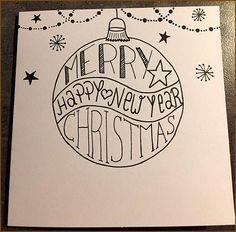 handlettering weihnachten Belettering voor X-mas # - Christmas Card Crafts, Christmas Art, Easy Christmas Drawings, Karten Diy, Kirigami, Christmas Inspiration, Diy Cards, Homemade Cards, Xmas Drawing