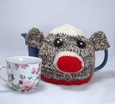 Sock Monkey Tea Cozy!