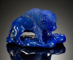 Lapis Lazuli Carving of a Buffalo Crystals Minerals, Gems And Minerals, Animal Jewelry, Jewelry Art, Agate, Sculptures, Lion Sculpture, Lapis Lazuli Jewelry, Cow Art