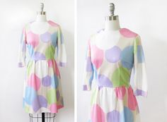 60s polka dot dress / vintage 1960s polka dot by RustBeltThreads, $58.00
