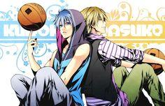 kuroko no basket kise ryouta kuroko tetsuya basketball cartoon boys Canvas Wall Poster
