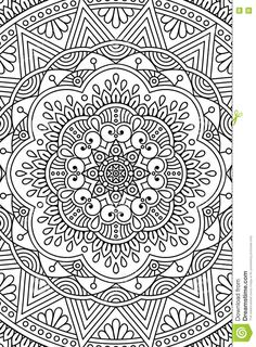 Vector Indian Mandala Background Stock Image - Image: 75515049