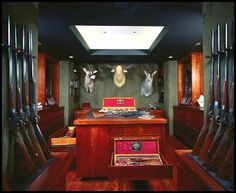 Gun Room, hidden behind secret door...
