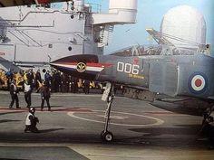 raf and royal navy phantoms Military Jets, Military Aircraft, Fighter Aircraft, Fighter Jets, British Aircraft Carrier, Hms Ark Royal, F4 Phantom, Combat Gear, Flight Deck