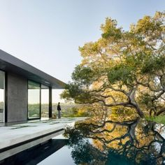 California home for a violinist features  underground rooms and a rooftop pool - love the pool