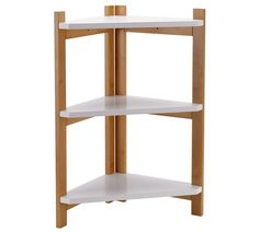 Buy Collection 3 Tier Two Tone Corner Shelf Unit at Argos.co.uk, visit Argos.co.uk to shop online for Bathroom shelves and storage units, Bathroom furniture, Home and garden