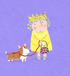 callyjane - Is dit niet Queen Elisabeth met haar doggie?