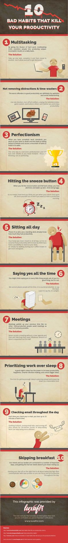 @hotinfographics : 10 Bad Habits That Kill Your Productivity Infographic - https://t.co/WMuK827JFr