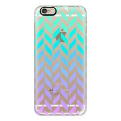 iPhone 6 Plus/6/5/5s/5c Case - Pastel Ombre Herringbone Transparent ($40) ❤ liked on Polyvore featuring accessories, tech accessories, electronics, phone, iphone case, iphone cover case, iphone cases, apple iphone cases and transparent iphone case