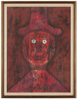 Lot# 1168 Rufino Tamayo (1899-1991 Mexican) ''Cabeza Roja [Red Head]'', color lithograph on paper under glass, sight size: 28.50'' H x 21'' W, est: $1500/2500 *Price Realized: $2,756.25
