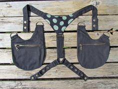 Denim and Cotton Watermelon Holster Bags/ Holster Purse