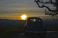 #sunset #tramonto #maggiolino #panorama #beetle #vintagecar