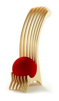 Coup de cœur pour la chaise ergonomique «Wild ball chair» réalisée par Alexander Christoff! Mobilier interactif, elle allie assise et exercices physique