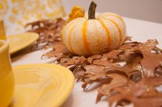 DIY Autumn Leaves Table Runner | The Sweetest Occasion