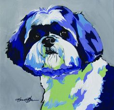 Shih Tzu Pop Art.  Reproductions available. see www.karrenmgarces.com.  In stock 12x12 framed print $35