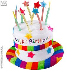 Sombrero de Terciopelo Cumpleaños - ChristyDisfraces.