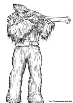Chewbacca coloring page | Star wars vector | Pinterest | Chewbacca ...