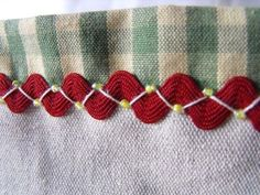 Basic ric rac embroidery given a 'lift' with beads