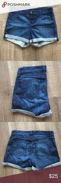 Banana Republic Petite Jean Shorts These were a tad to small for me so they have sat unworn in my closet! Super cute, beautiful wash. They are a 25 petite and they are not too short. My thighs were just a tad too big for them otherwise I'd keep them lol Banana Republic Shorts Jean Shorts