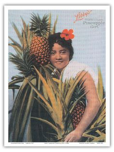 Libby's Hawaiian Pineapple Girl by Unknown c. 1900's    PRTA1421