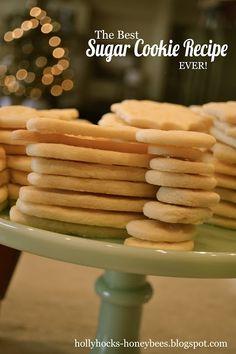 The best Sugar Cookies ever- Hollyhocks & Honeybees: