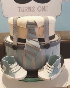 """Our little man themed cake for Jericks first birthday | #cake #birthdaycake…"