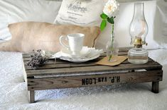 Or upcycling an old wooden crate. | 28 Breakfast In Bed Ideas To Make Your Mom's Day