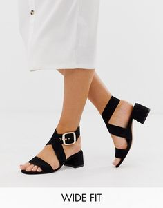 Browse online for the newest ASOS DESIGN Wide Fit Hip Hop block heeled sandals in black styles. Shop easier with ASOS' multiple payments and return options (Ts&Cs apply). Black Block Heel Sandals, Block Heels, Block Sandals, Hip Hop, Louis Vuitton Shoes, Shoes Heels, Heeled Sandals, Ugg, Black Square