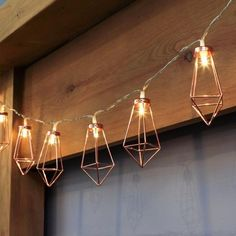 Geometric Copper Fairy Lights