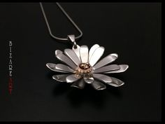 DIY: How to make Gerbera Daisy flower pendant with Silver all by hand - YouTube