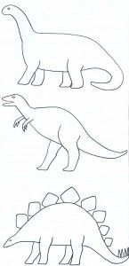 Paper Crafts for Children » Decorating Dinosaur Shapes