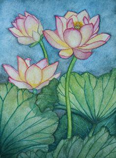 The Lotus Flower Series #5 | Angie's Art Studio