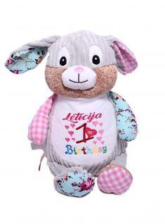 Clovis Brampton (pink) Hello Kitty, Pink, Teddy Bear, Toys, Animals, Fictional Characters, Cotton Textile, Cuddling, Bunny