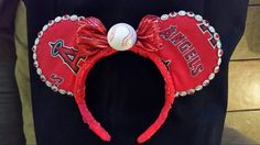 Angeles Baseball Mouse Ears
