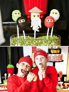 Awesome Lego Ninjago Inspired Birthday Party- Cake pops