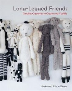 An irresistible Japanese craft book full of photos, illustrations, and 20 crochet patterns to make adorably understated long-legged stuffed animals. What started with the simple, adorable designs that a grandmother, Hisako, made to amuse her grandchildren quickly built a following in Japan, and Long-Legged Friends was born. For the first time in English, the 20 charming crochet projects in this irresistible book will amuse and delight crafters and collectors, and adults and children alike…
