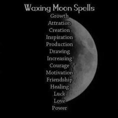 mine witchcraft wiccan pagan moon phases moon magic Lunar Magic, Moon Magic, Magick Spells, Witchcraft, Voodoo Spells, Wiccan Witch, Cresent Moon, Waxing Gibbous, Under Your Spell