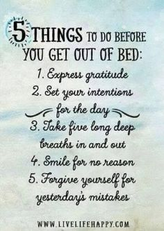 Today I am grateful for those that remind me of their daily 5. I am going to post this near my bed (maybe on the headboard), as a reminder. If you'd like one too, click on the image below, and send it to yourself or someone else that needs a reminder (I've already paid for the postcard and the postage, even internationally)! http://www.ThatSAYsItAll.com/Sendcere #ThatSAYsItAll #Gratitude #Sendcere