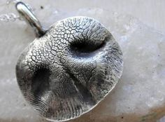 Belt Buckles, Pendants & Keychains Cast From Your Dog or Cat's Nose In Sterling Silver.