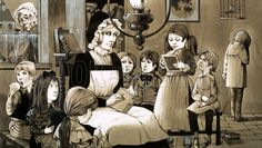 C19 Dame Schools provided Britain's first nursery and primary education.