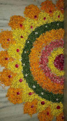 Rangoli Designs Flower, Colorful Rangoli Designs, Rangoli Ideas, Rangoli Designs Diwali, Rangoli Designs Images, Flower Rangoli, Beautiful Rangoli Designs, Flower Designs, Diwali Rangoli