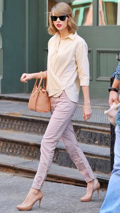 19 Reasons Why Taylor Swift Is a Street Style Pro - April 10, 2014 from #InStyle - I would wear every single piece esp loving the neutral pumps!
