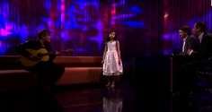 "She's only 7 years old, but her voice is something else. This is Angelina Jordan and she's singing ""Fly Me To The Moon,"" one of my favorite songs of all time.  Her performance on ""The Late Show"" has been a topic of discussion on Youtube, where many have questioned why she was barefoot on stage... View Article"