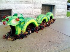Amazing Uses For Old Tires – street art or playground.