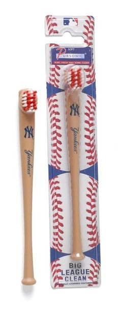 New Pursonic New York #Yankees Ny #Baseball Bat Toothbrush Soft #MLB Official Chop from $5.13
