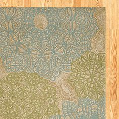 Aqua Crochet Indoor-Outdoor Rug from World Market... I cant decide between this one and a couple others. Help!!