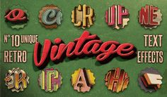"""""""Vintage Retro Text Effects Vol. 1 """" You'll find it on my website www.thecreativecat.it"""