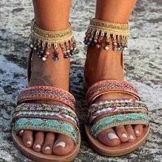 Sandales en cuir fait à la main, artisanales sandales, sandales en cuir grec, « Cyrille »