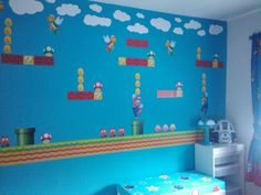 Super Mario Room...Justin would think I was the most awesome mom ever if I did this to his room